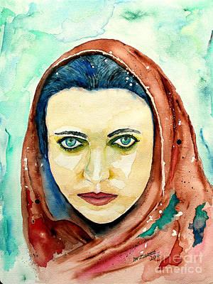 Hooded Beauty Art Print