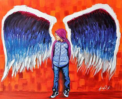 Painting - Hoodie Angel by Armando Renteria