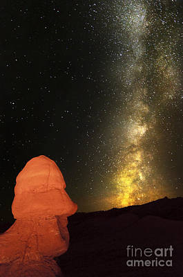Photograph - Hoodoo And Night Sky In Utah by Bret Webster