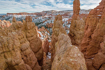 Photograph - Hoodoo Crevices In Winter by Greg Nyquist