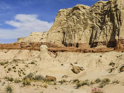 Photograph - Hoodoo Entrada Sandstone Cliffs Toadstools by NaturesPix