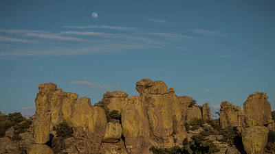 Photograph - Hoodoo Moon Chiricahua National Monument Arizona by Lawrence S Richardson Jr