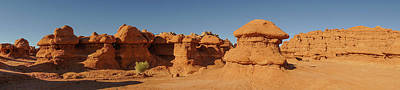 Photograph - Hoodoo Panorama Goblin Valley State Park Utah by Lawrence S Richardson Jr