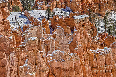 Photograph - Hoodoos After A Snowfall by Sue Smith