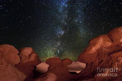 Photograph - Hoodoos And Night Sky Utah by Bret Webster