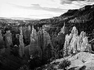 Photograph - Hoodoos Monochrome by Scott Kemper