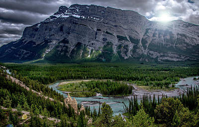 Photograph - Hoodoos On The Bow River by Patrick Boening