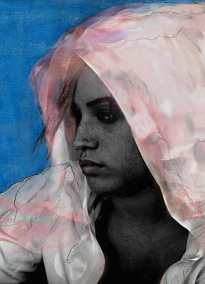 Rnb Mixed Media - Hoody Angel by Mel Winning