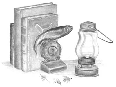 Drawing - Hook And Bullet Press - Royal Coachman Chapter 11 by Marsha Karle