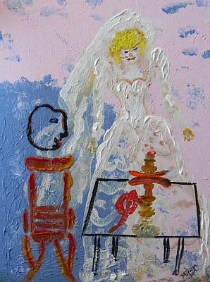 Painting - Hookah And The Bride by Marwan George Khoury