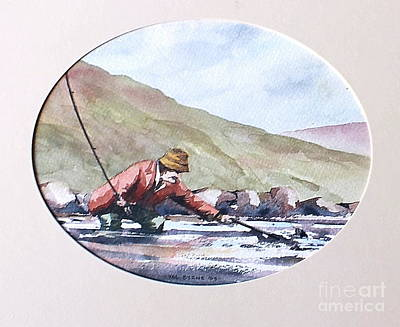 Painting - Hooked On The Errif, Mayo by Val Byrne