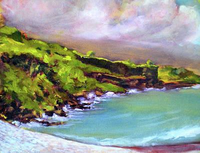 Fauvist Painting - Ho'okena Pali - Morning by Richard Rochkovsky