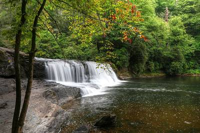 Foliage Photograph - Hooker Falls And Autumn Begins by Carol R Montoya