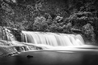 Photograph - Hooker Falls-bw by Joye Ardyn Durham