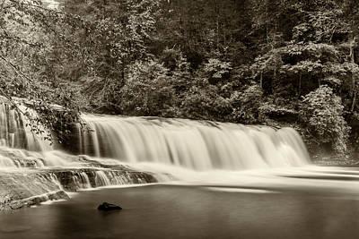 Photograph - Hooker Falls - Sepia by Joye Ardyn Durham