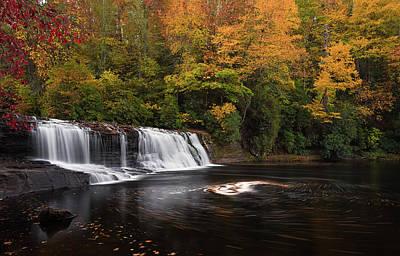 Photograph - Hooker Falls Swirl by Reid Northrup