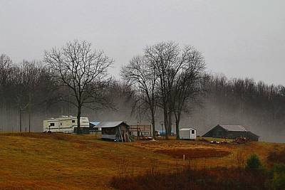 Photograph - Hooker Road In The Fog 1 by Kathryn Meyer