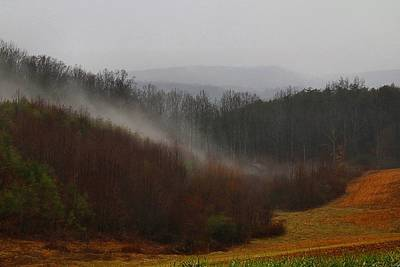 Photograph - Hooker Road In The Fog 2 by Kathryn Meyer