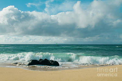 Hookipa Beach Pacific Ocean Waves Maui Hawaii Art Print