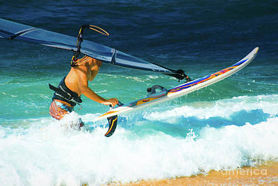 Photograph - Hookipa Beach Windsurfing North Shore Maui Hawaii by Sharon Mau