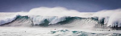 Hookipa Maui Big Wave Art Print by Denis Dore