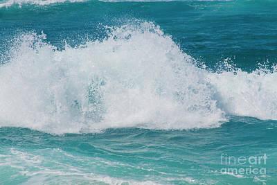 Hookipa Splash Waves Beach Break Shore Break Pacific Ocean Maui  Art Print by Sharon Mau