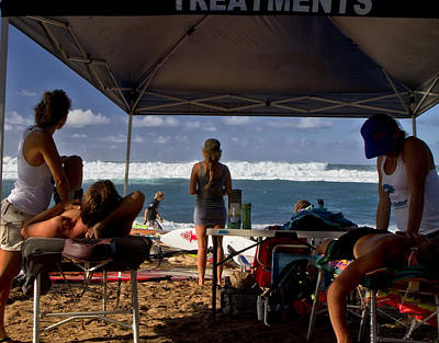 Photograph - Hookipa Windsurf Contest 2012 by Waterdancer
