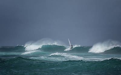 Photograph - Hookipa Windsurfer by Randy Hall
