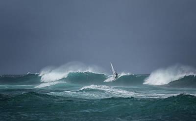 Photograph - Hookipa Windsurfer by Randy Hall