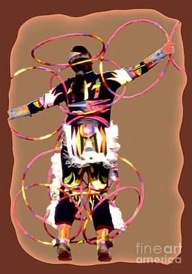 Hoop Dancer 2 Art Print by Linda  Parker