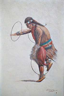 Painting - Hoop Dancer by Dusty Bahnson