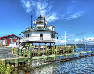 Spats Photograph - Hooper Strait Lighthouse by Greg Hager