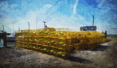 Digital Art - Hooper's Island Crab Pots by Brian Wallace