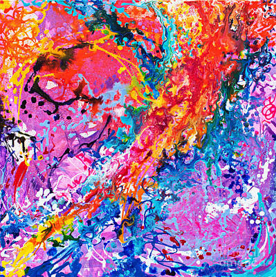 Painting - Hoopla  by Expressionistart studio Priscilla Batzell