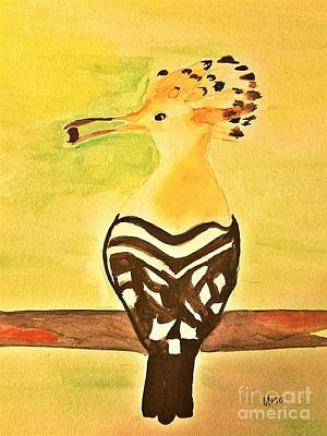 Painting - Hoopoe by Maria Urso