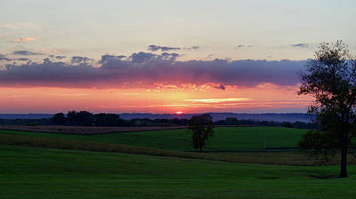 Photograph - Hoosier Sunset by David Lyle