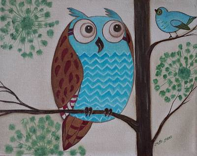 Painting Royalty Free Images - Hoot Man Royalty-Free Image by Judy Jones