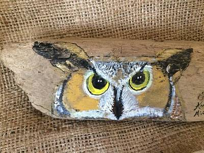 Mixed Media - Hoot Owl by Ann Michelle Swadener