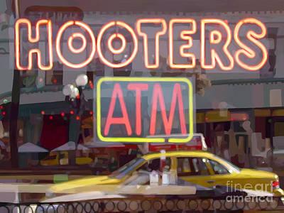 San Diego Artist Digital Art - Hooters Neons by John Engen