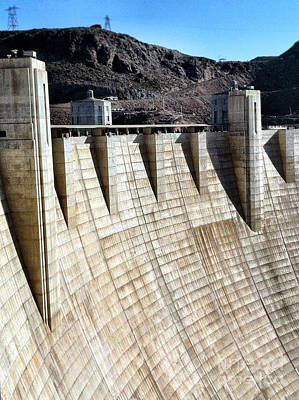 Photograph - Hoover Dam An Engineering Marvel by Bryan Mullennix