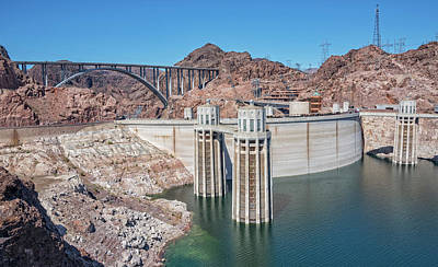 Photograph - Hoover Dam And The Mike O'callaghan - Pat Tillman Bridge by Jim Vallee