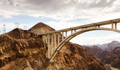 Phong Trinh Photograph - Hoover Dam Bridge, Nevada by Phong Trinh