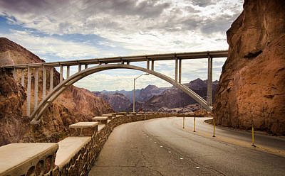Phong Trinh Photograph - Hoover Dam Bridge by Phong Trinh