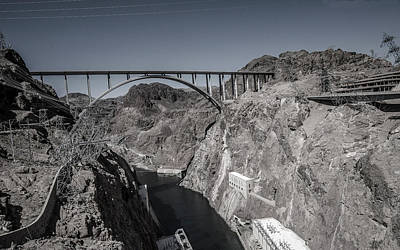 Hoover Dam Bridge Art Print