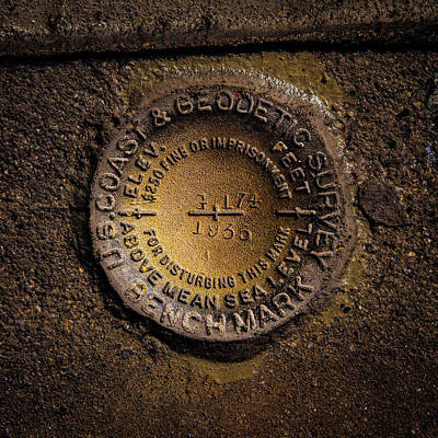 Photograph - Hoover Dam Geodetic Marker by Onyonet  Photo Studios
