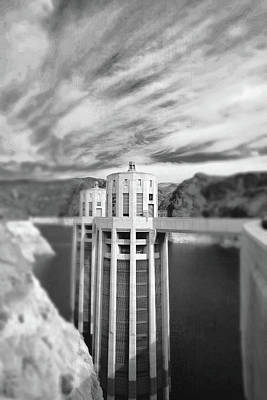 Photograph - Hoover Dam Intake Towers No. 1-1 by Sandy Taylor