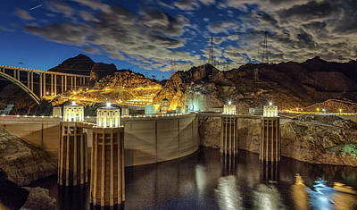 Art Print featuring the photograph Hoover Dam by Michael Rogers