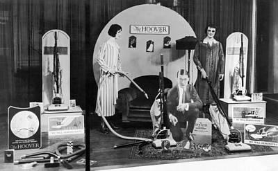 Hoover Vacuums Display Art Print by Underwood Archives