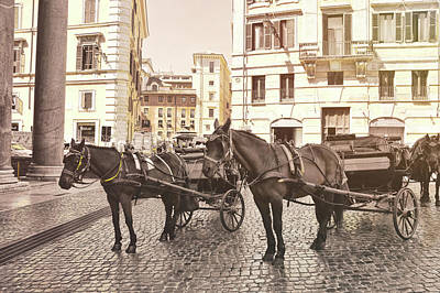 Photograph - Hooves On Cobblestone by JAMART Photography