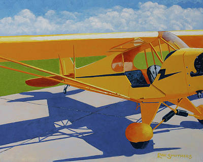 Piper Cub Painting - Hop In by Ron Smothers